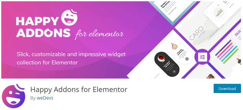 Happy addons for Elementor
