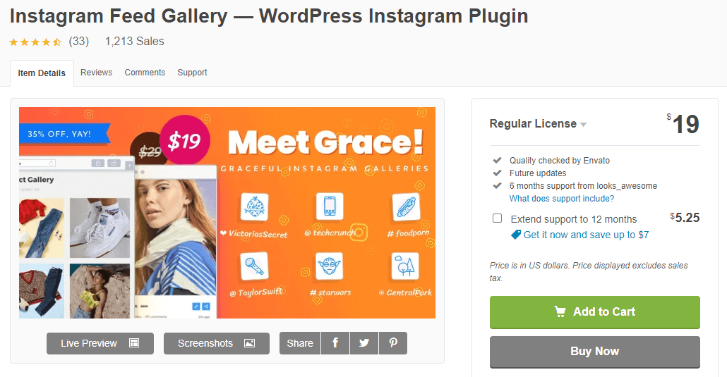 Grace Instagram Feed Plugin