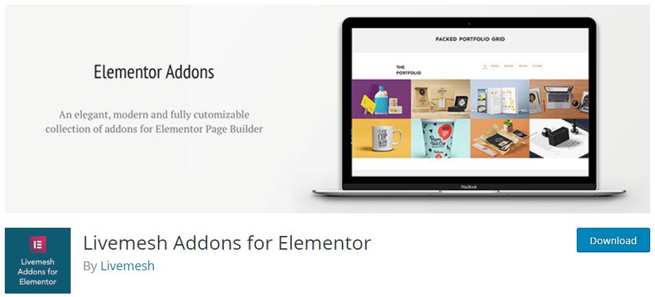 Live mesh Addons for Elementor