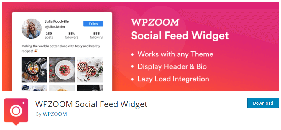 WPZoom Social Instagram Feed Plugin