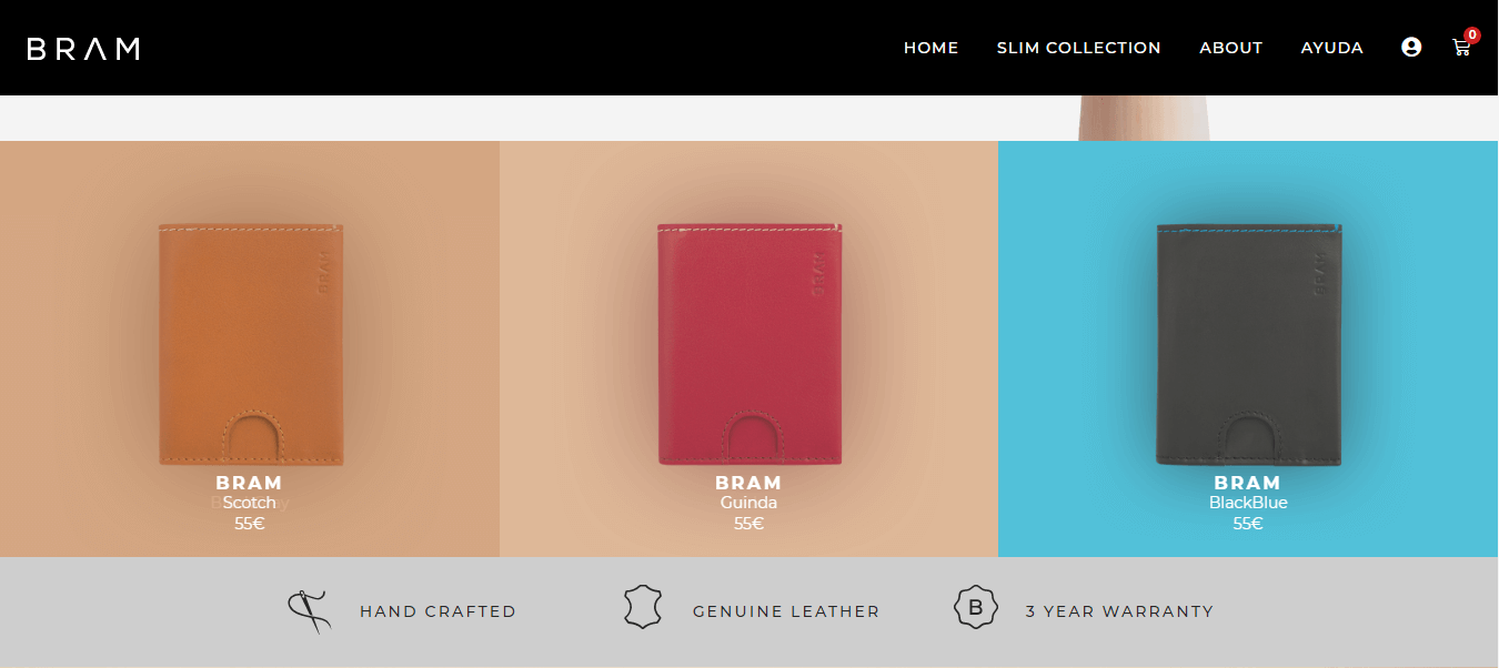 BRAM - a WooCommerce shop page in real life