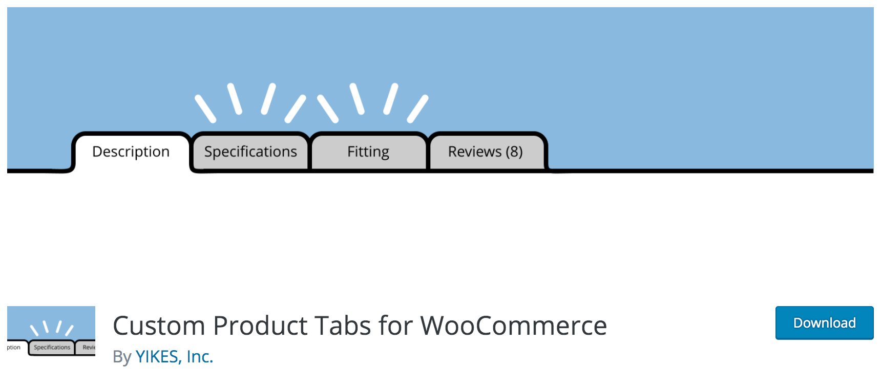 Custom Product Tabs for WooCommerce product page