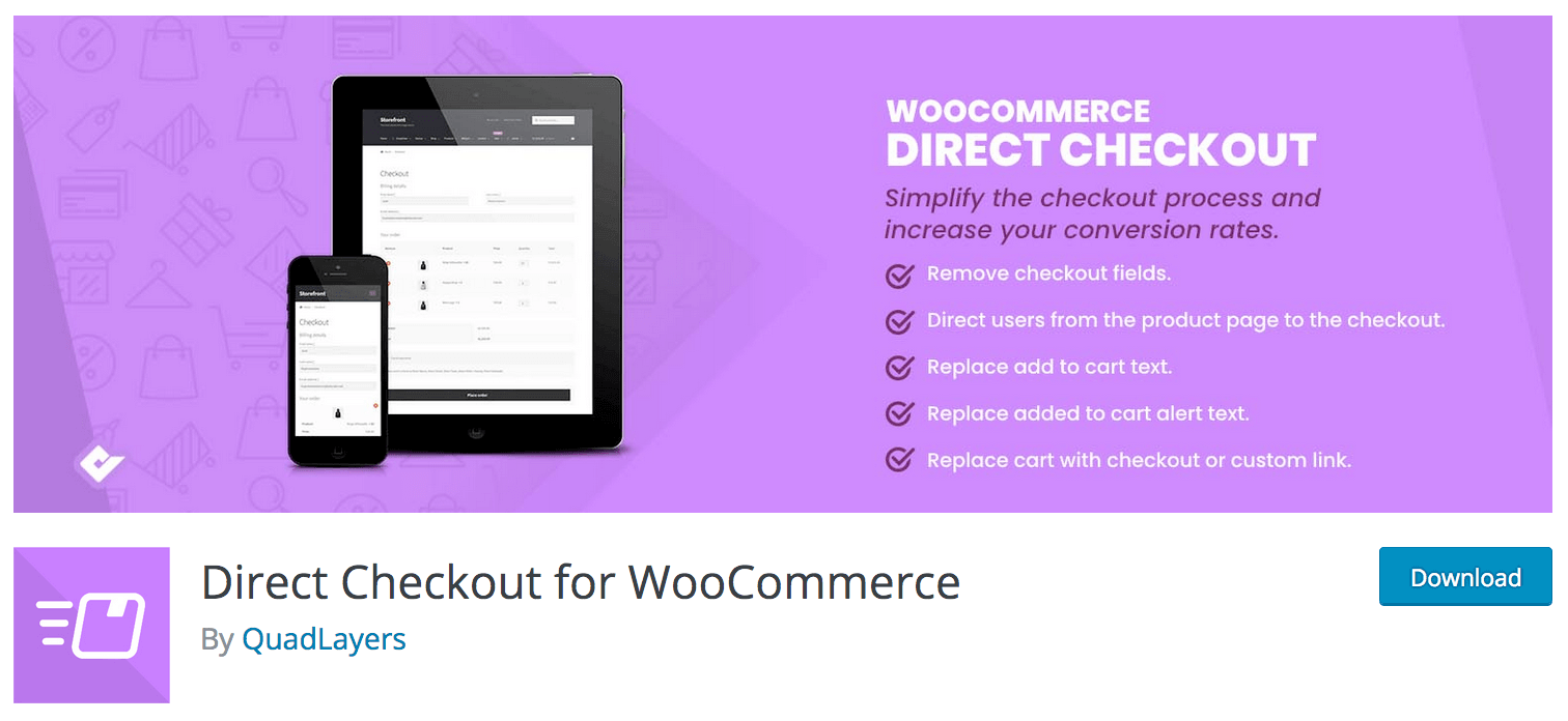 Direct Checkout for Woo product page