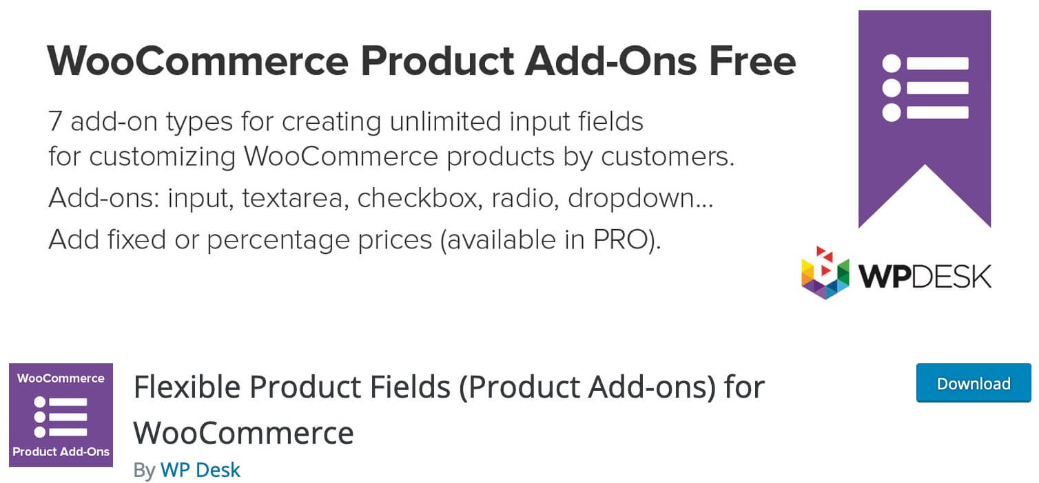 Flexible Product Fields for WooCommerce