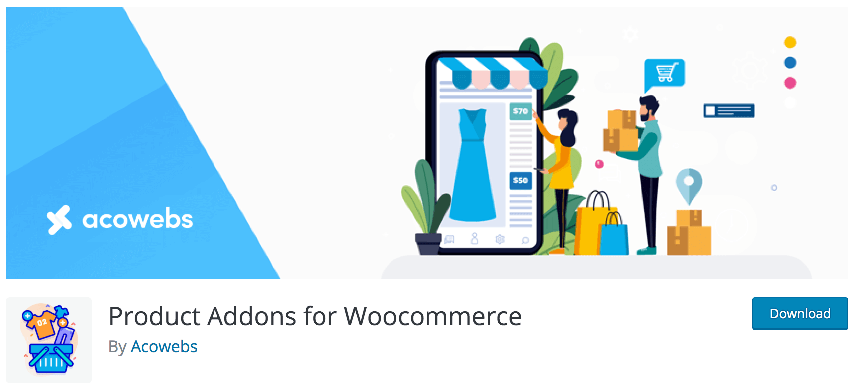 Product addons for WooCommerce single product page