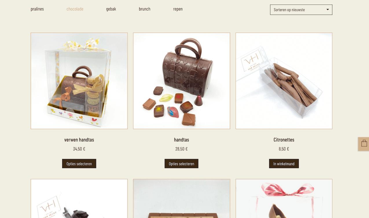 Van Hecke WooCommerce shop page