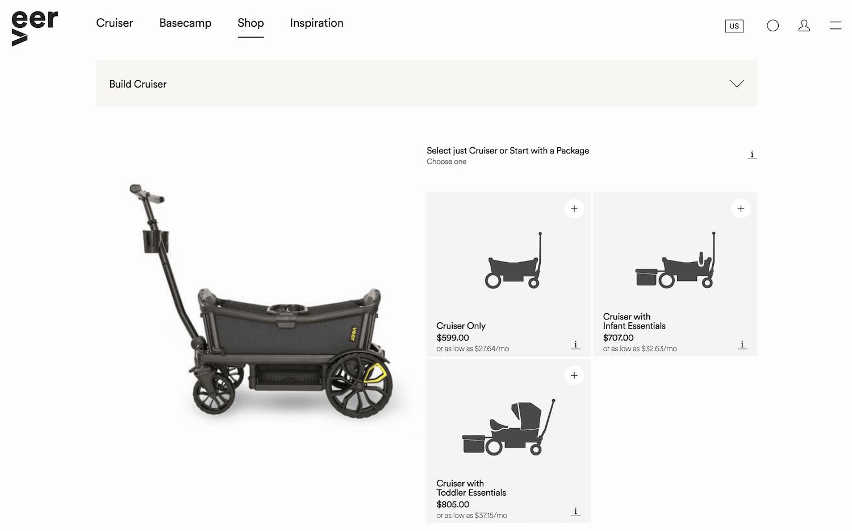 Veer shop page