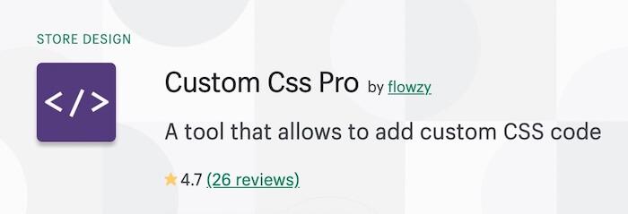 Custom Css Pro on Shopify app store