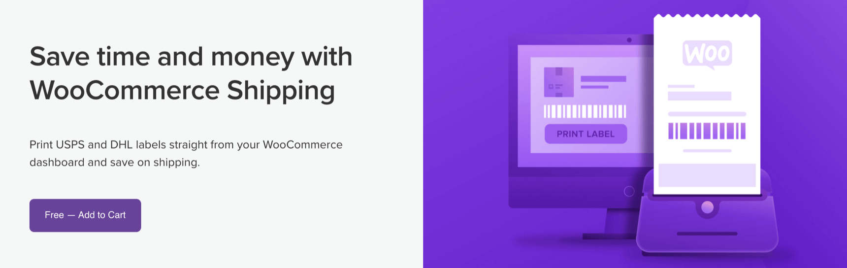 WooCommerce Shipping - Print USPS and DHL labels straight from your WooCommerce dashboard