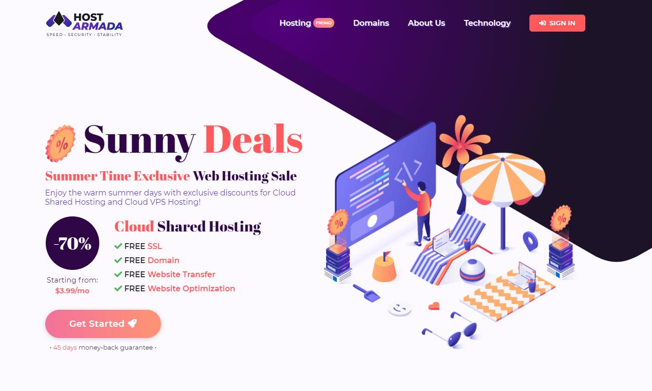 HostArmada hosting offers