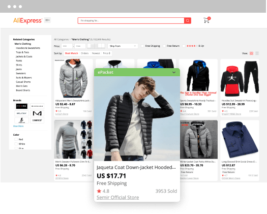 AliExpress store front